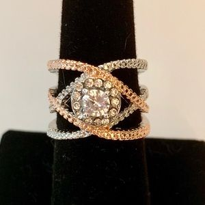 Jewelry - 5⭐️Rated! Rose Gold and Silver Zircon Ring